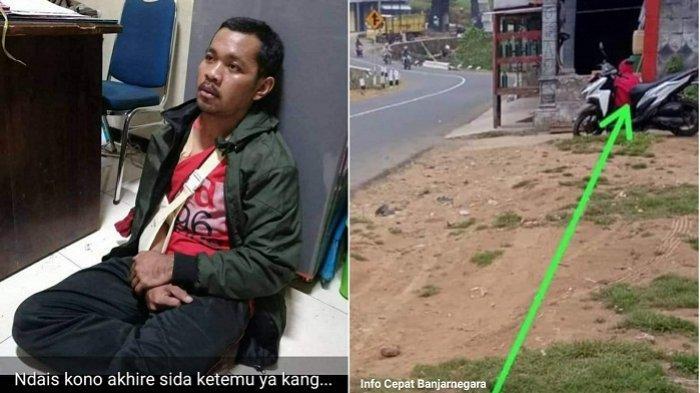 Sebelum Kejadian, Penusuk Ibu Muda di Bakal Banjarnegara Terpotret Tunggu Korban Dekat Gapura Dusun