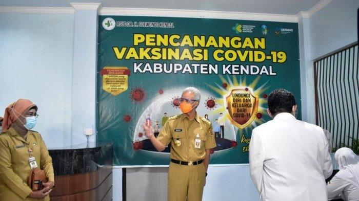 Pesan Gubernur Ganjar Pranowo saat Tinjau Vaksinasi di Kendal: Tolong Bisa Dipercepat Lagi