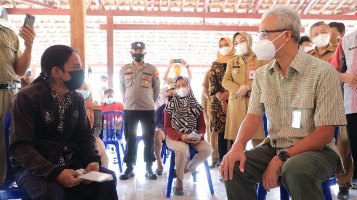 Temui Gubernur Ganjar di Grobogan, Pria Berjuluk Black Rhoma Curhat, Dua Tahun Absen Manggung