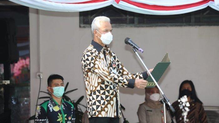 Gubernur Ganjar Pranowo Ikut Bergetar Saat Bacakan Amanat Menteri ATR/BPN, Ada Apakah?
