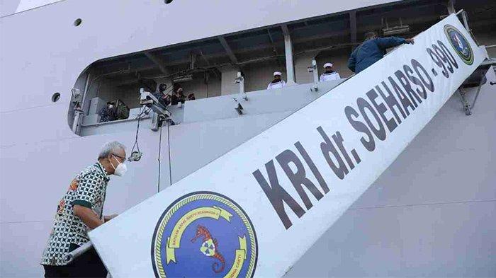 KRI dr Soeharso Bersandar di Pelabuhan Tanjung Emas, Bantu Suplai Oksigen se Jawa Tengah