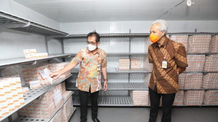 Ganjar Sidak di Gudang Obat Milik Dinas Kesehatan Provinsi Jawa Tengah