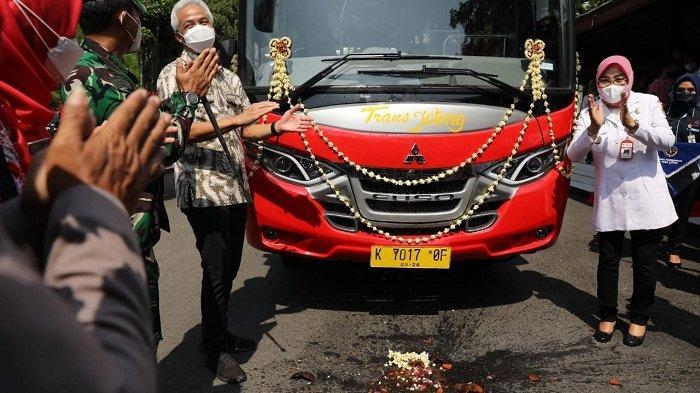 BRT Trans Jateng Rute Semarang-Godong Grobogan via Demak Resmi Mengaspal, Tiket Rp 2000 untuk Buruh