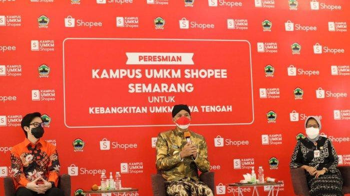 Keren Nih, Kota Semarang Miliki Kampus UMKM Shopee, Ganjar: Saatnya Bikin Kerjaan Sendiri