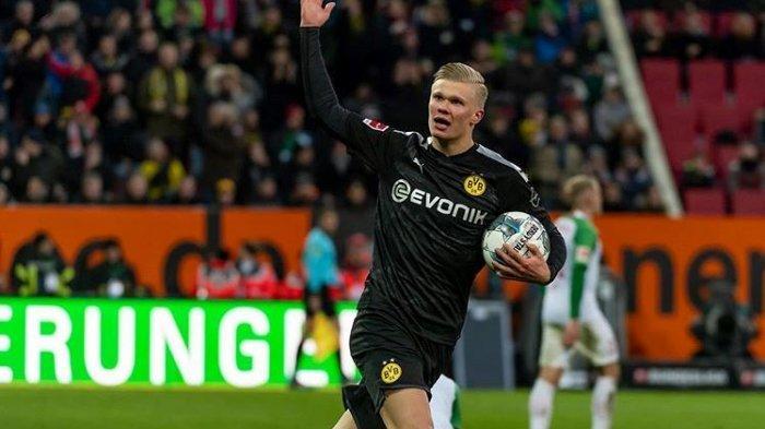 Bintang Anyar Earling Braut Halaand Cetak Hatttick, Dortmund Kandaskan Tuan Rumah Augsburg 3-5