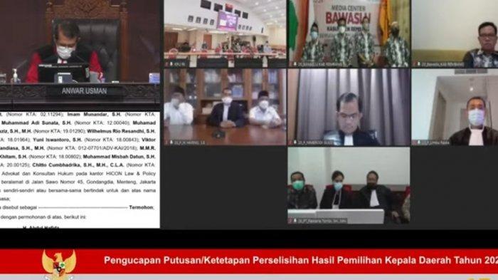 Gugatan Sengketa Paslon Harno-Bayu Ditolak Mahkamah Konstitusi, Berikut Alasan Hakim Saldi Isra