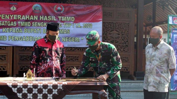 Selesai, TMMD Sengkuyung Tahap I 2020 Desa Karangmangu, Berikut Laporan Dandim Banyumas