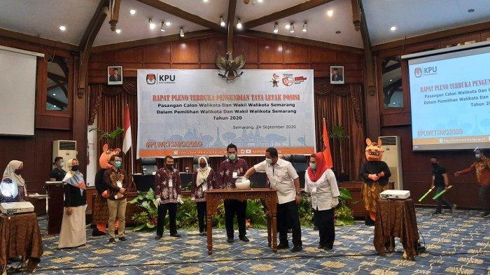 Hasil Undian Tata Letak Pasangan Calon di Pilkada Semarang: Hendi-Ita di Posisi Kiri Kertas Suara