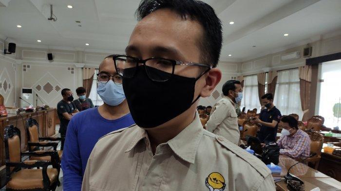 Ketua HIPMI Banyumas, Undi Harto seusai beraudiensi di Kantor DPRD Kabupaten Banyumas, Kamis (4/2/2021).