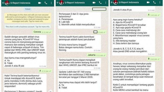 Informasi Aktual Virus Corona Tanpa Hoaks, Silakan Simpan Nomor WhatsApp Ini