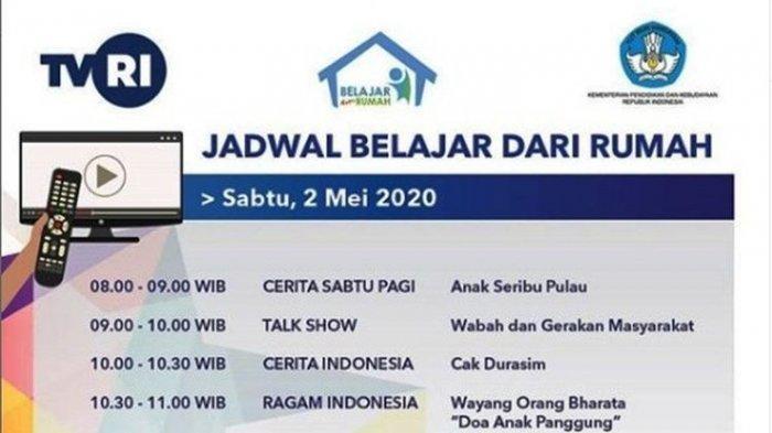 Hardiknas Nonton TVRI, Berikut Jadwal Belajar dari Rumah, Sabtu 2 Mei 2020