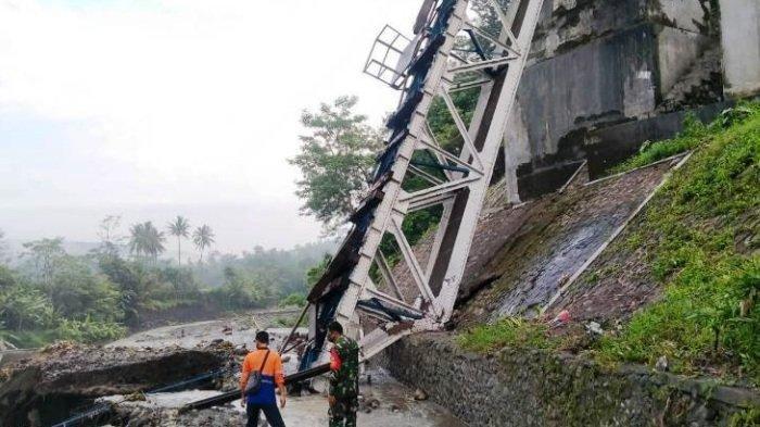 Jembatan Rel Kereta Api di Brebes Putus, Perjalanan Rute Jakarta-Yogya-Solo Terganggu