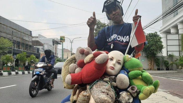 Libur Karena Corona, Pria Ini Bersepeda Keliling Jogja Sosialisasikan Hidup Sehat Lawan Covid-19