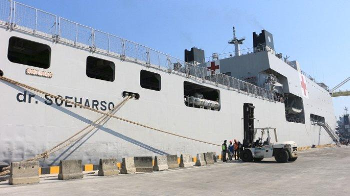 KRI Dr Soeharso Bersandar di Pelabuhan Tanjung Emas Semarang, Siap Isi Oksigen Rumah Sakit