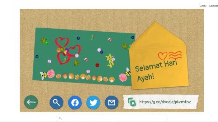 Ingin Sampaikan Selamat Hari Ayah? Yuk, Bikin Kartu Ucapan Lewat Doodle Google Hari Ini