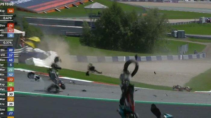 MotoGP Austria 2020: Diwarnai Kecelakaan di Tikungan 3, Diviozo Juara dan Rossi Finis di Posisi 5