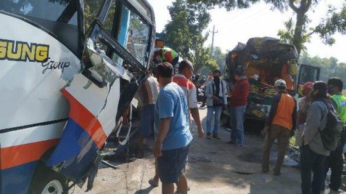 Kecelakan Bus Adu Banteng di Jalur Pati-Purwodadi sebabkan 9 Orang Terluka, Berikut Nama-namanya
