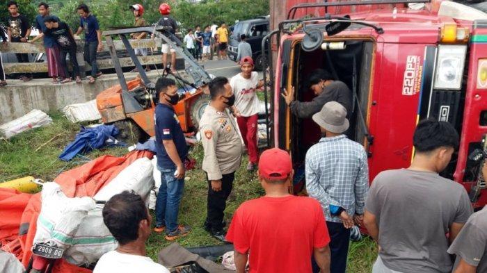 Kecelakaan Maut Kembali Terjadi di Kertek Wonosobo, Truk Ekspedisi Alami Rem Blong, Satu Tewas
