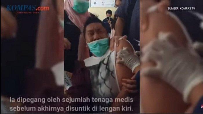 Viral, Video Kepala Puskesmas Bone Menjerit Histeris saat Divaksin Covid. Begini Ceritanya