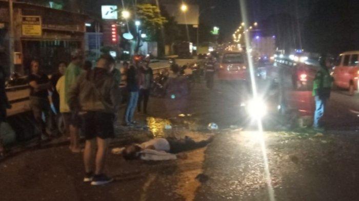 Tergeletak di Jalan Depan SPBU Kalibanteng Kota Semarang, Masjidil Jadi Korban Tabrak Lari