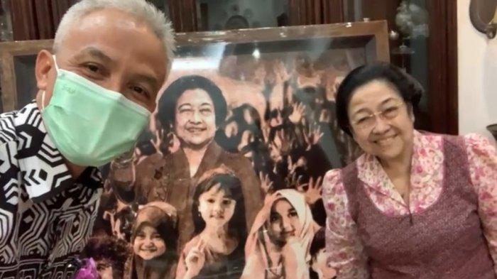 Ganjar Serahkan Lukisan Karya Djoko Susilo Kepada Megawati Soekarnoputri, Ini Maksudnya