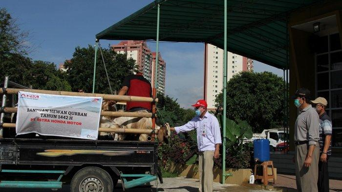 Program Berbagi PT AHM Kembali Dilakukan, Salurkan APD Hingga Donasikan Hewan Kurban