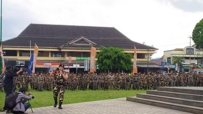 Marak Lagi Judi Togel di Banyumas, Banser Banyumas Gelar Aksi Damai di Alun-Alun Purwokerto
