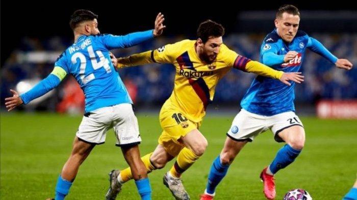 Prediksi Line-up Barcelona vs Napoli - Duel Duo Bomber 33 Tahun, Bocah Nakal Diragukan Tampil