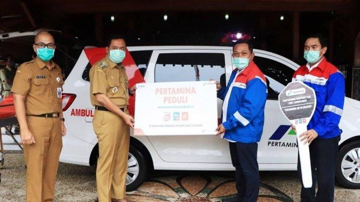 Pertamina Sumbang Mobil Ambulans, Bupati Cilacap: Untuk Mobilisasi Perangi Virus Corona