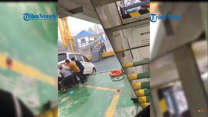 Gagal Mencapai Dermaga, Mobil Avanza Nyemplung Danau Toba. Satu Penumpang Tewas