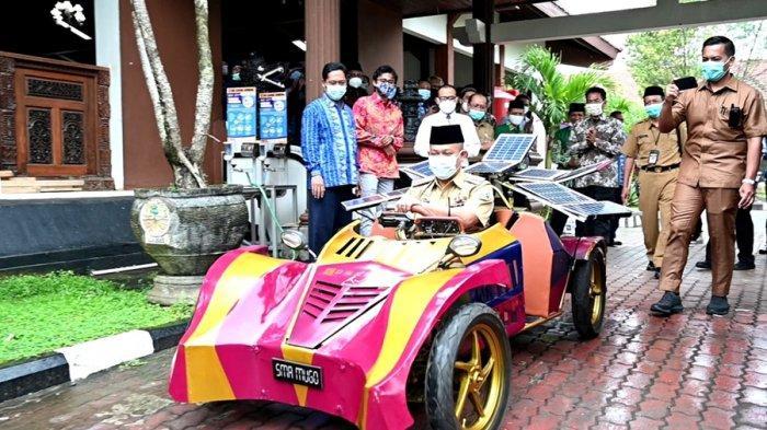 Keren, Siswa SMA Muhammadiyah Gombong Sudah Bisa Bikin Mobil Listrik Bertenaga Surya, Ini Wujudnya