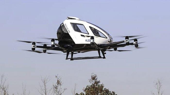 Catat Waktunya! Mobil Terbang Bakal Hadir di Indonesia, Namanya EHang 216, Ini Spesifikasinya