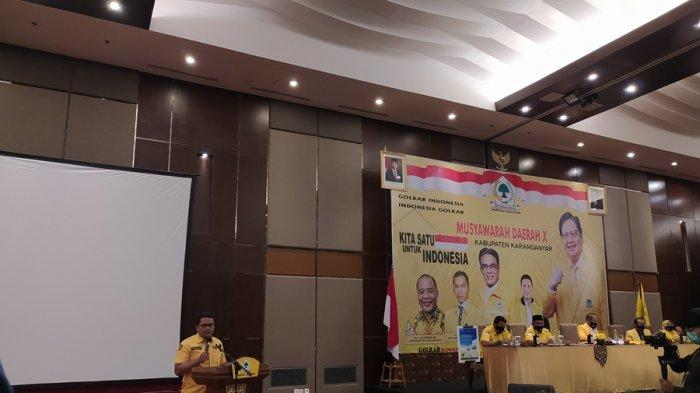 Ilyas Akbar Al Madani, Ketua Partai Golkar Karanganyar Periode 2021-2025, Terpilih Secara Aklamasi