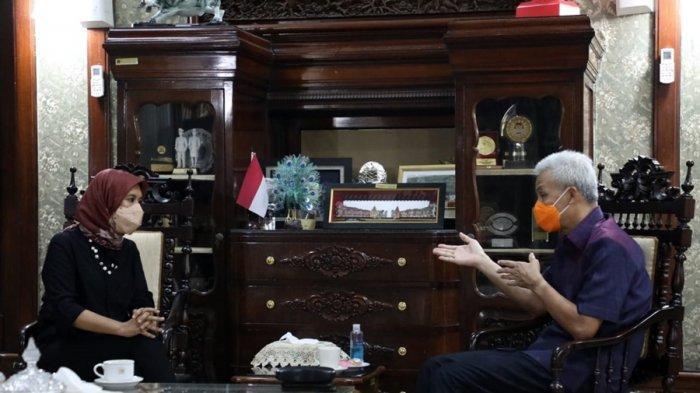 Najelaa Shihab Temui Gubernur Ganjar Pranowo, Ajak Berkolaborasi Tingkatkan Pendidikan di Jateng