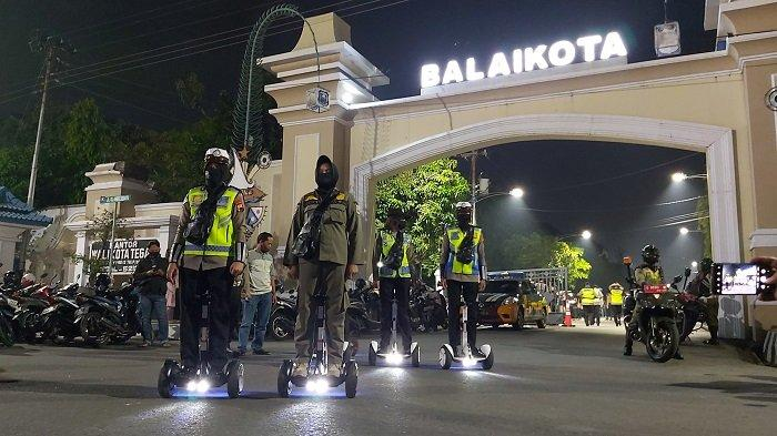 Pesepeda Tidak Bermasker di Tegal akan Dapat Teguran dari Polisi.