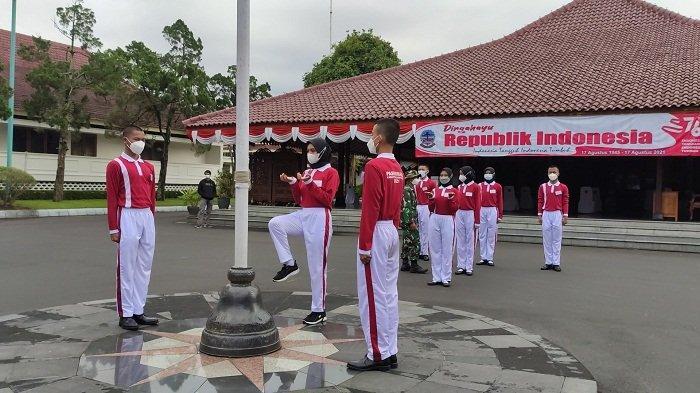 Paskibra Banyumas Siap Bertugas 17 Agustus, Hanya Beranggotakan 8 Siswa dari Sekolah di Purwokerto
