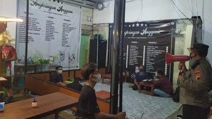 Gunakan Pengeras Suara, Kapolres Tembalang Kota Semarang Bubarkan Warung Angkringan dan Nasi Goreng
