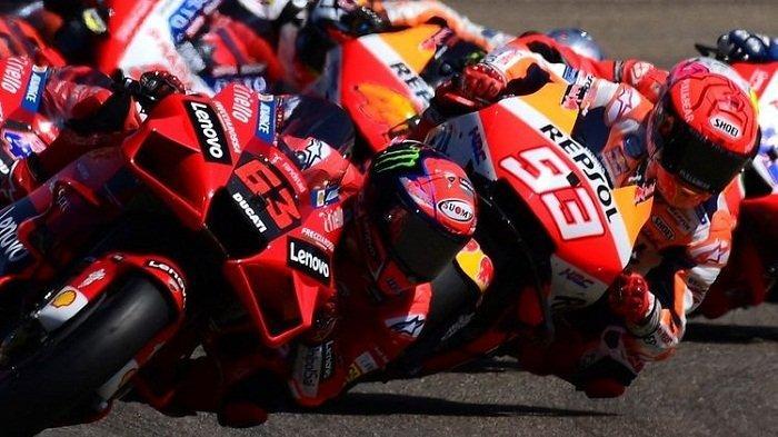 Menangi Duel dengan Marquez, Bagnaia Raih Podium Pertama MotoGP Aragon