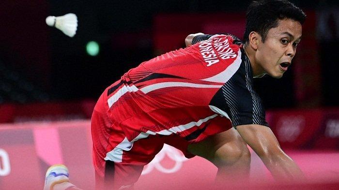 Dijegal Chen Long dalam Dua Gim, Langkah Sinisuka Ginting Menembus Final Olimpiade Tokyo Terhenti