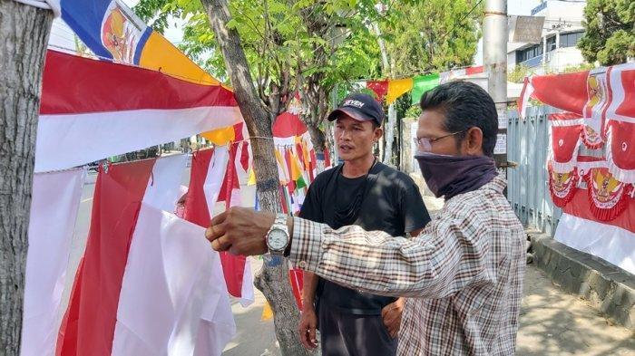 Yatna Juga Terdampak Pandemi di Tegal, Penjualan Bendera Menurun Drastis Jelang HUT RI