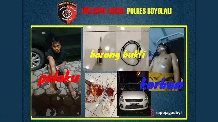 Perampokan Sopir Taksi Online di Boyolali, Leher Korban Dijerat Kabel USB Dada Ditusuk Pisau