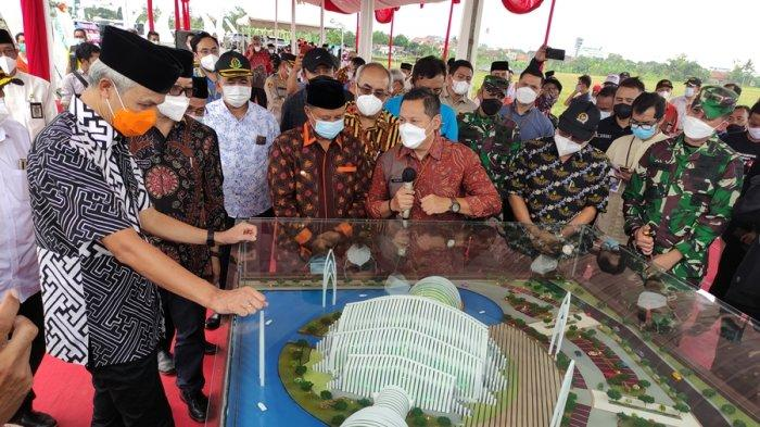 Berkonsep Seribu Bulan Sabit, Pembangunan Masjid Agung Purwokerto Dimulai, Desain Ridwan Kamil