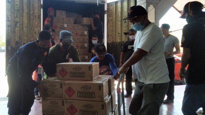 Pemkab Kendal Terima 11 Kontainer Hand Sanitizer dan Masker, Donasi Pemerintah Singapura