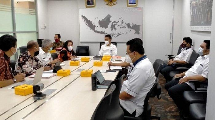 Kunjungi Kemendag, Bupati Purbalingga Minta Bantuan Tenda dan Gerobag bagi Pedagang PFC
