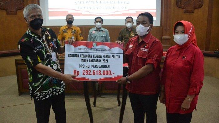 Sembilan Parpol di Purbalingga Terima Dana Bantuan dari Pemkab, Terbanyak PDI Perjuangan Rp 292 Juta