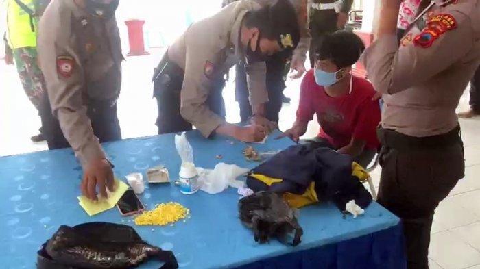 Tak Cuma Terjaring Razia Masker di Tegal, Pemuda Asal Brebes Ini Ketahuan Bawa 549 Pil Hixymer