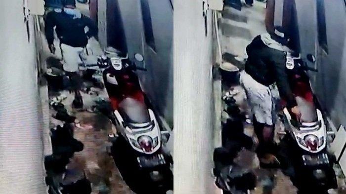 Aksi Tiga Pencuri Gondol Honda Scoopy di Mintaragen Tegal Terekam CCTV, Pelaku Pakai Celana Pendek