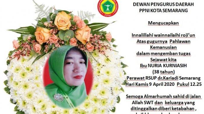 Nuria Kurniasih Meninggal, Perawat RSUP Kariadi Semarang, PPNI: Saat Jalankan Tugas Kemanusiaan