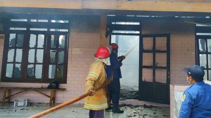 Ditinggal Jualan Cilok ke Alun-alun, Rumah Kontrakan di Cangakan Karanganyar Ludes Terbakar