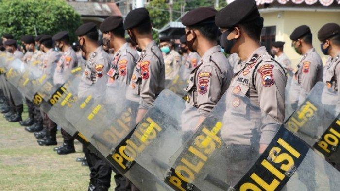 Antisipasi Kerusuhan saat Pilkada, Polres Kebumen Gelar Latihan Dalmas